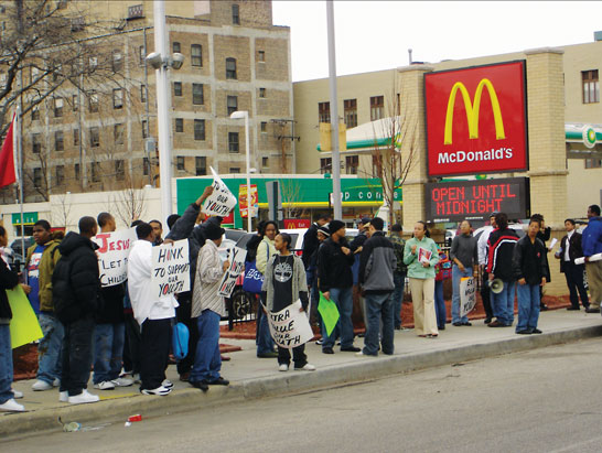 Protest at McDs
